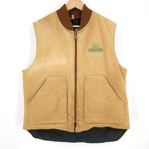 VTG Carhartt Channel Lumber Quilted Vest USA XL